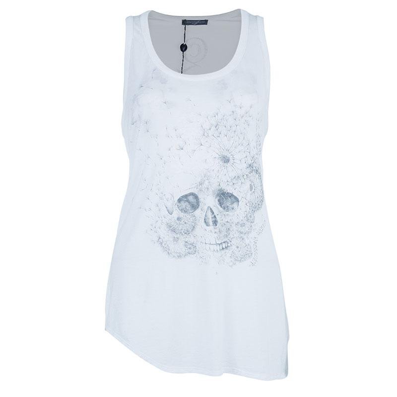Alexander McQueen White Sleeveless Skull Top L