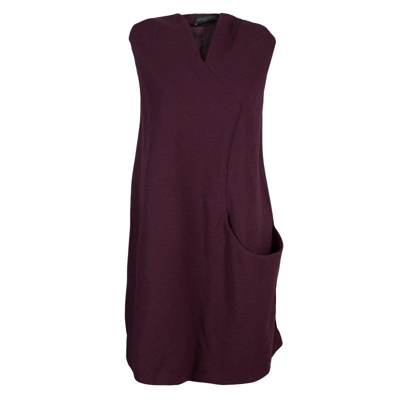 Alexander McQueen Burgundy A-Line Dress S