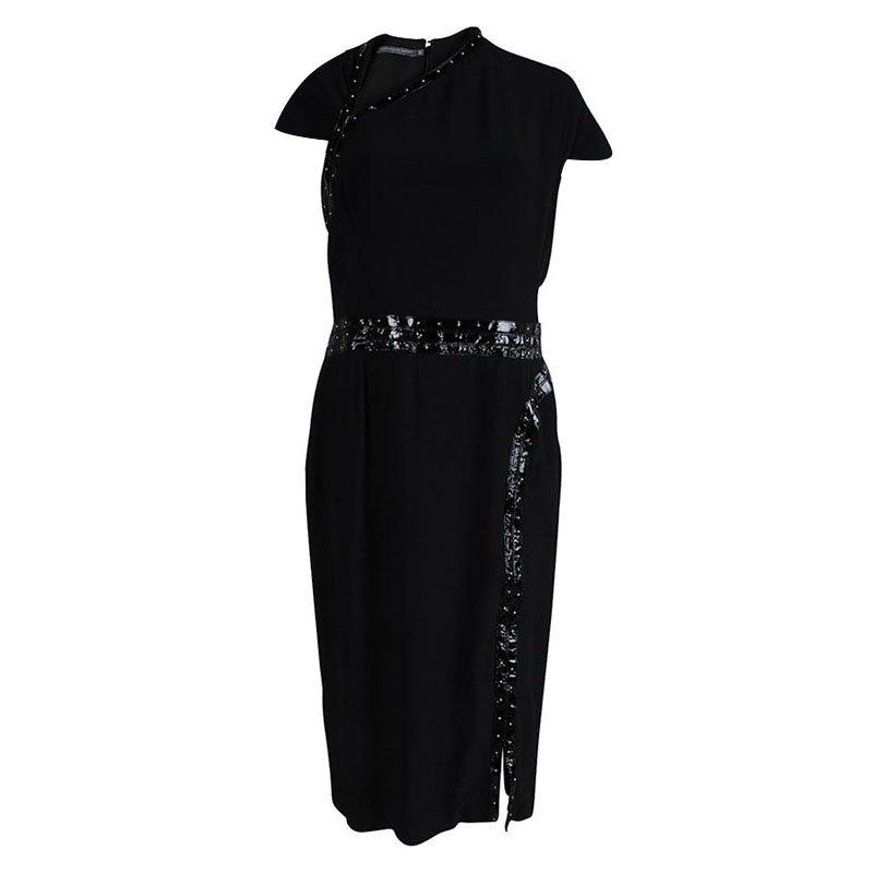 Alexander McQueen Black Stud Embelished Dress L