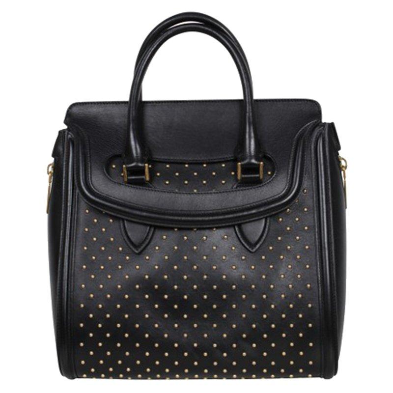 Studded Satchel Bag