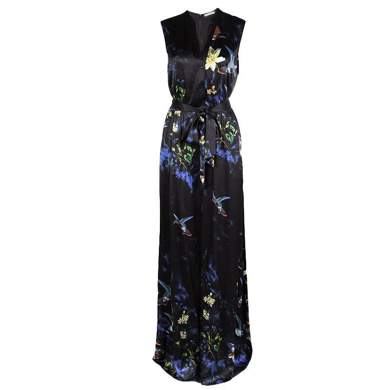 69f42a5c8f51 ... Alice + Olivia Marianna Black Printed Silk Belted Maxi Dress L.  nextprev. prevnext