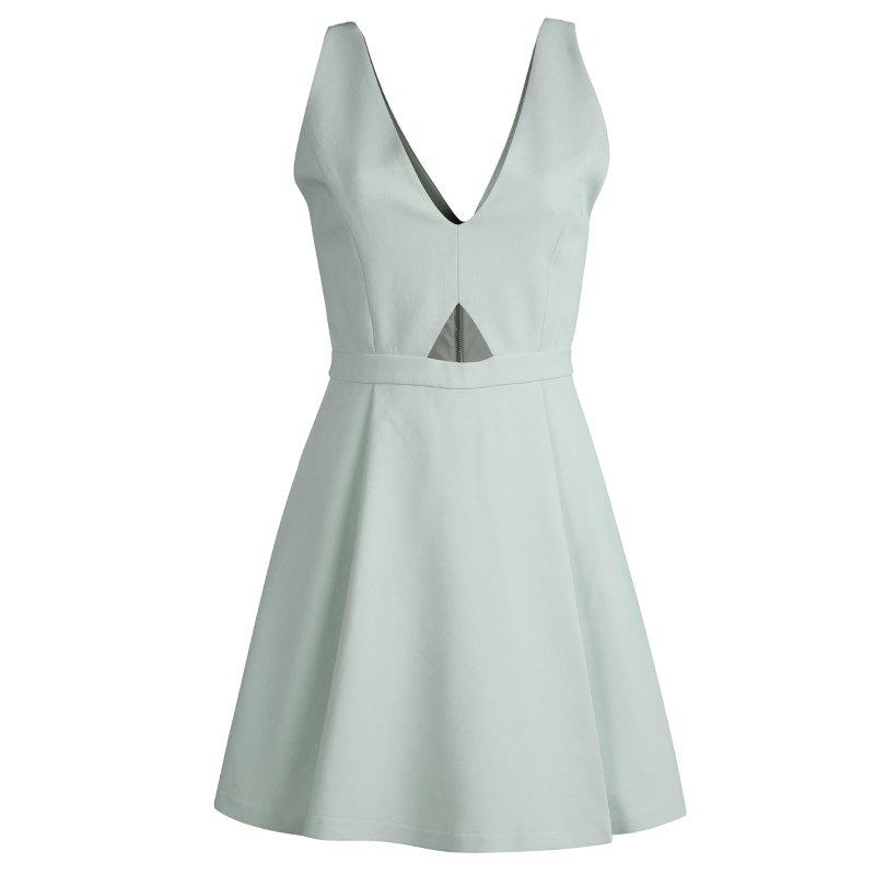 فستان آليس + أوليفيا أخضر فاتح بلا أكمام M