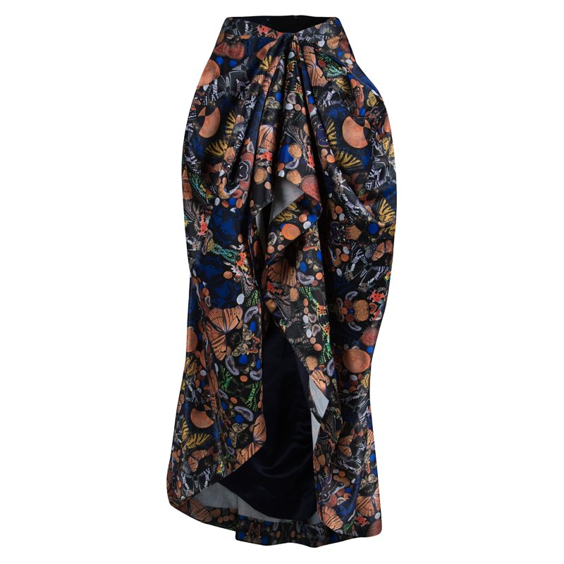 Alice + Olivia Multicolor High-low Skirt XS