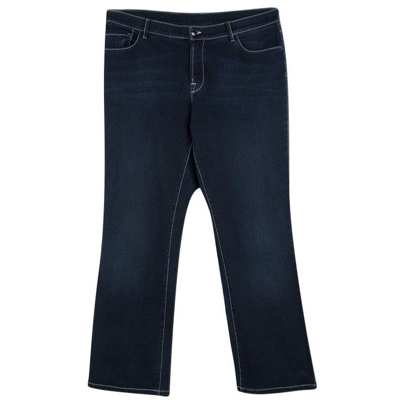 brand new 22e7a d19d9 Armani Collezioni Indigo Dark Wash Faded Effect Denim Jeans L