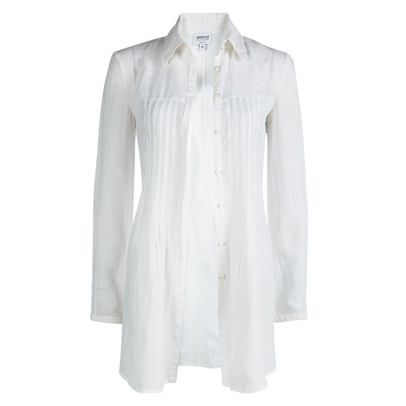 0b276d1a2b Armani Collezioni White Long Sleeve Top XS