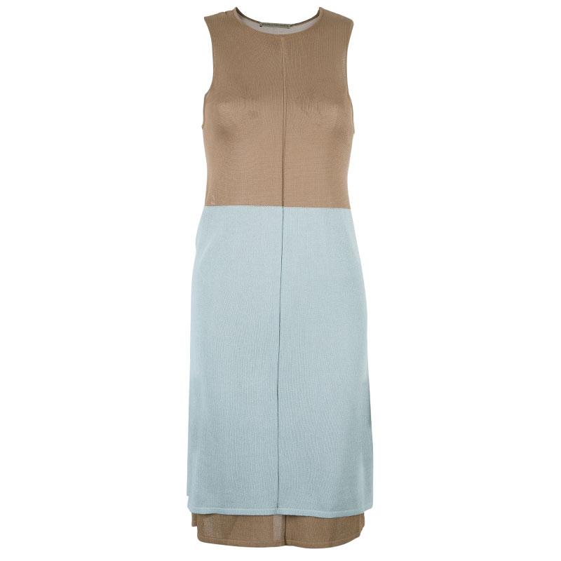 Balenciaga Colorblock Sleeveless Dress M Balenciaga