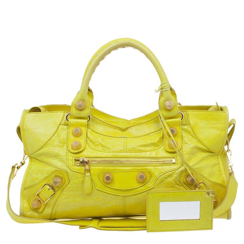 balenciaga yellow bag