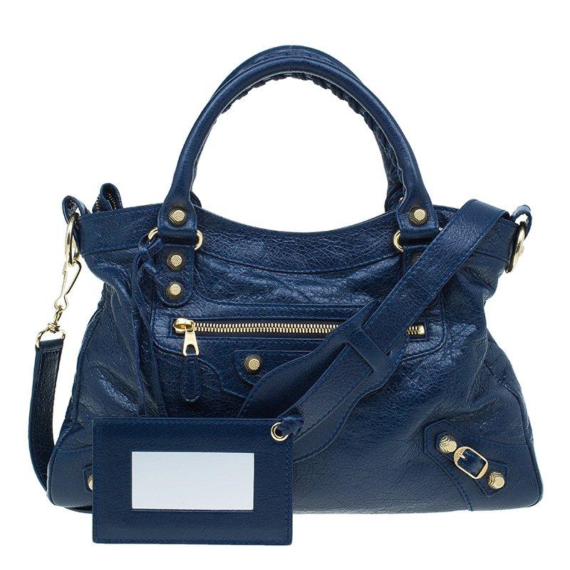... Balenciaga Navy Blue Leather Giant Gold Town Shoulder Bag. nextprev.  prevnext 22cb3cc346
