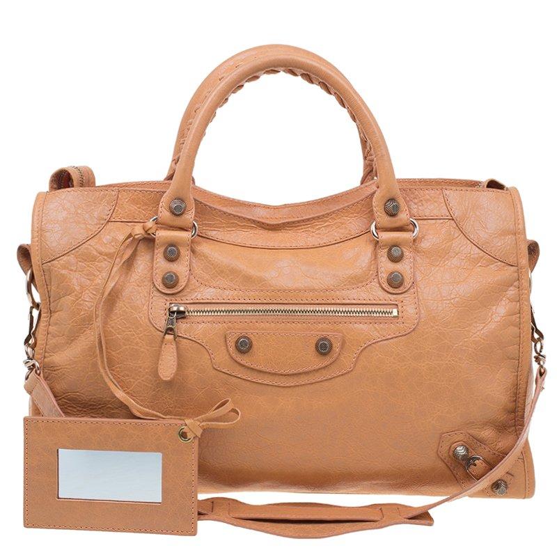9ca57c686f ... Balenciaga Rose Blush Lambskin Leather Giant 12 Rose Gold City Bag.  nextprev. prevnext