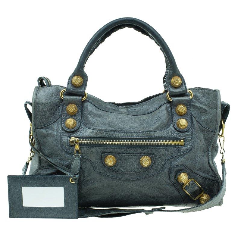 cc518586d9 Buy Balenciaga Mystery Green Lambskin Leather Classic City Tote GH ...