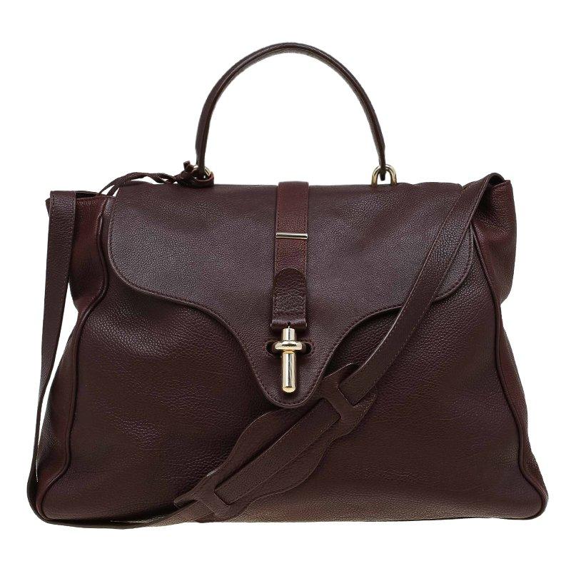 957dff9e45 ... Balenciaga Brown Leather Tube Clasp Top Handle Bag. nextprev. prevnext