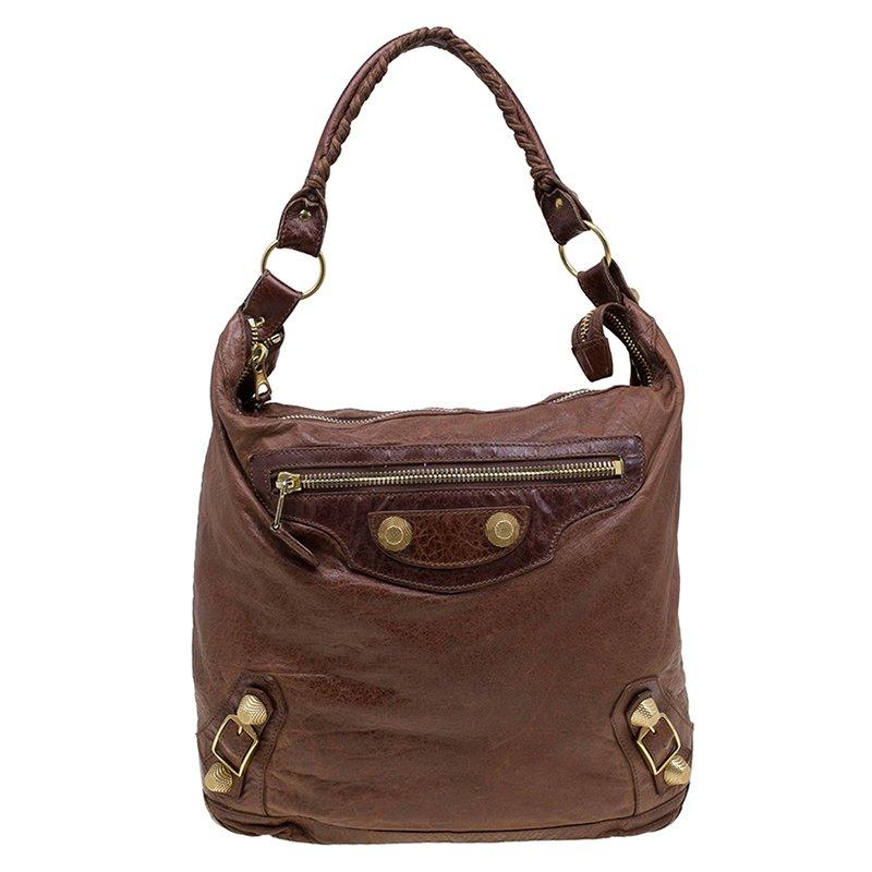 c28579ee1ec5 ... Balenciaga Brown Leather Classic Day Giant 21 Gold Hardware Hobo.  nextprev. prevnext