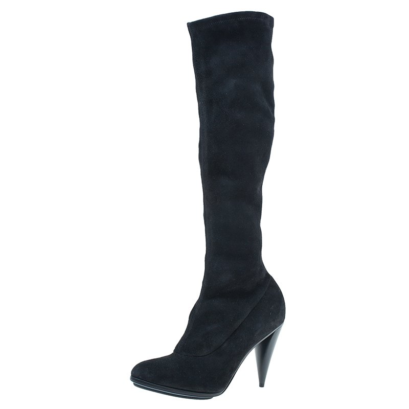 b9ff0a706 Buy Balenciaga Black Suede Knee Boots Size 40 40490 at best price | TLC