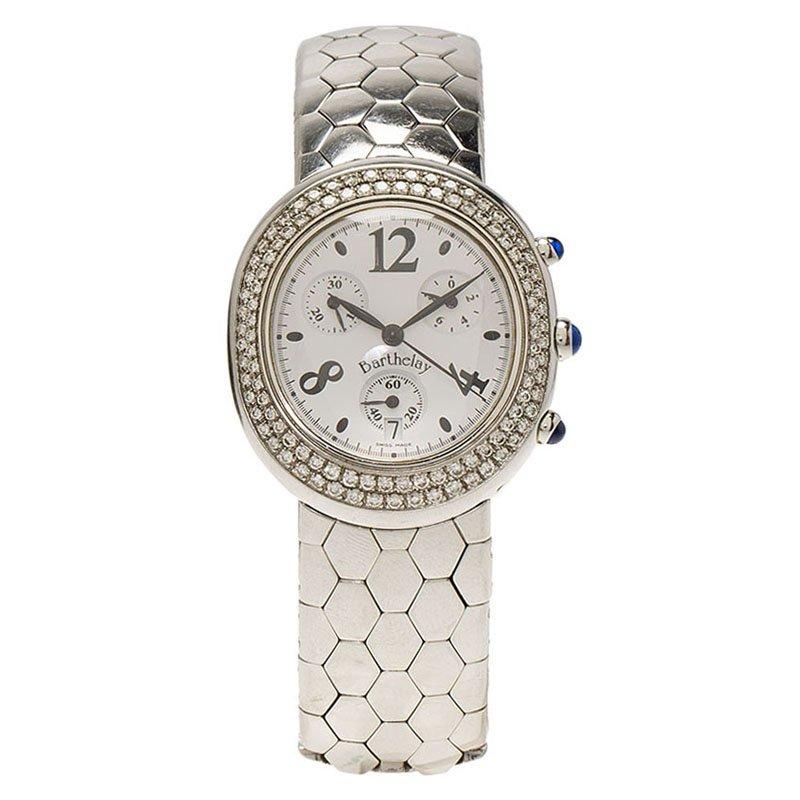 d8c003547 إشتري ساعة يد نسائية بارثلي ستانلس ستيل ألماس بيضاء 32مم 80654 بأفضل ...