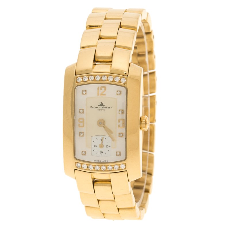 210546bedd4 ... Baume and Mercier Mother of Pearl 18K Yellow Gold and Diamond Hampton  Milleis Women s Wristwatch 22. nextprev. prevnext