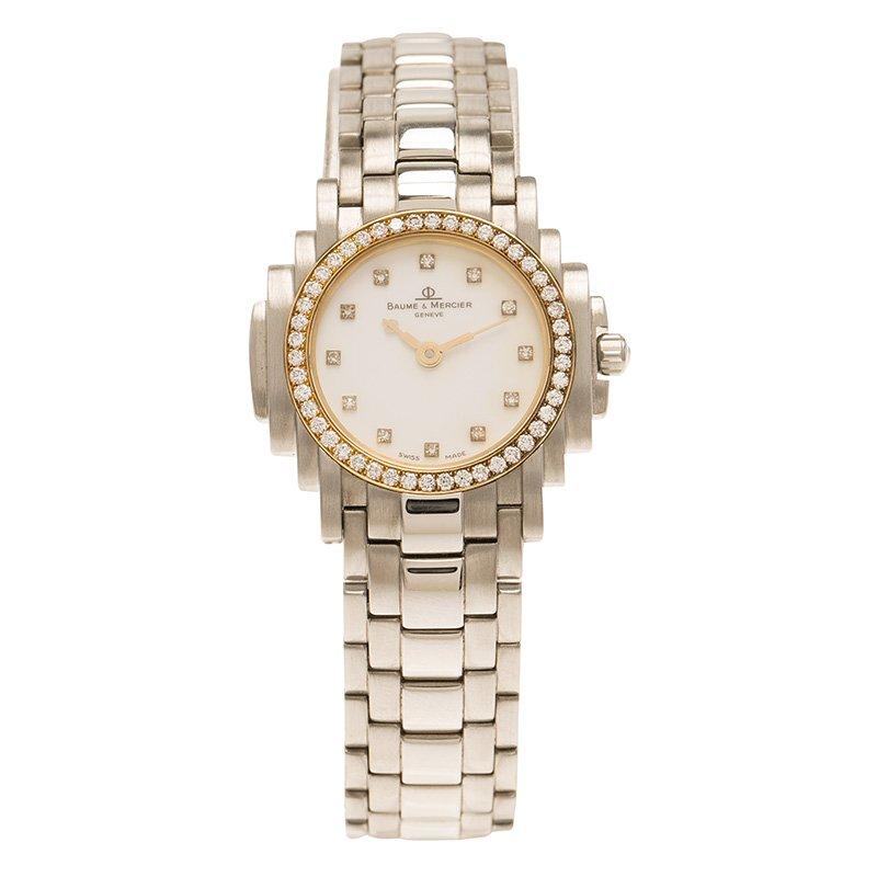 00511d18d Buy Baume & Mercier Gold Stainless Steel Riviera Women's Wristwatch ...