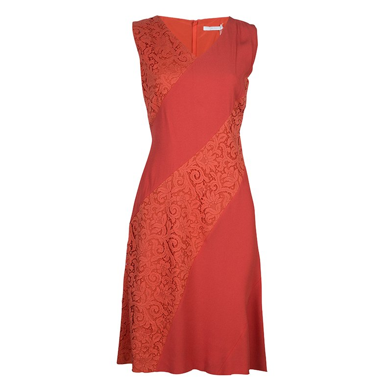 eec2d67bc6f Buy Boss by Hugo Boss Red Lace Detail Sleeveless Dress M 61213 at ...
