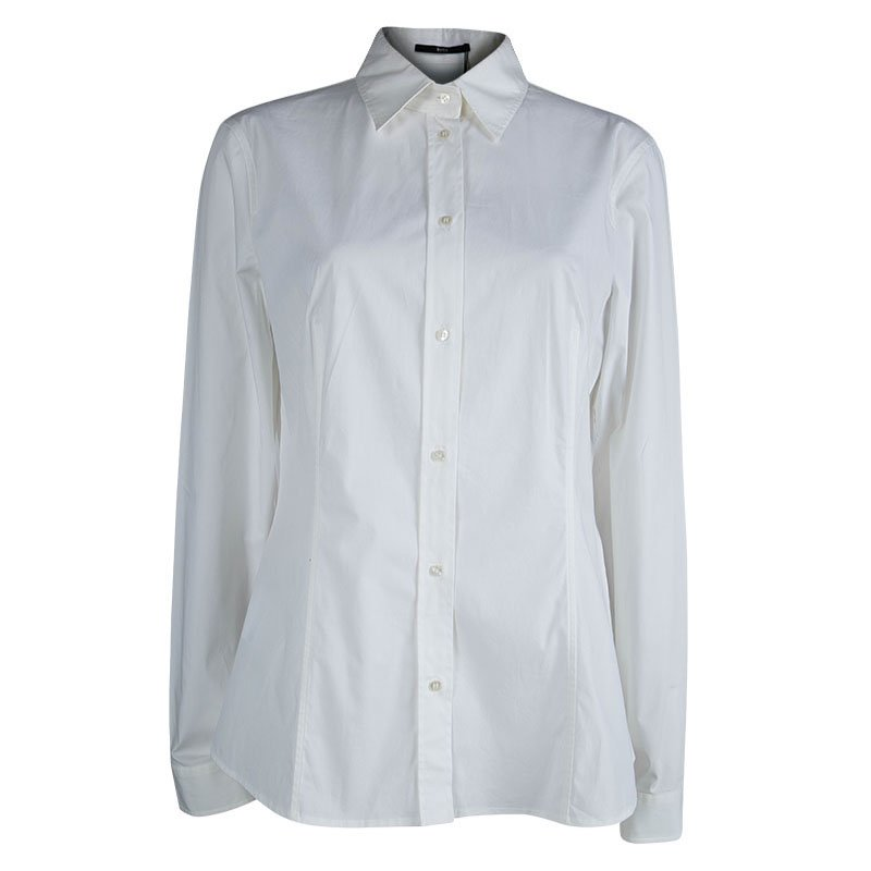 ffce53000eba Buy Boss By Hugo Boss White Cotton Button Down Banu Shirt L 81897 at ...