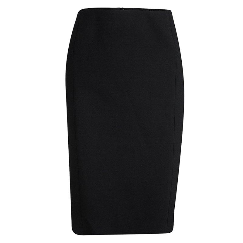 Boss By Hugo Boss Black Paneled Viluris Skirt L