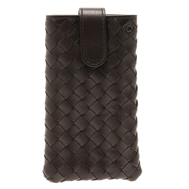 d872d47a14d5 Buy Bottega Veneta Brown Intrecciato Nappa iPhone 5 Case 52763 at ...