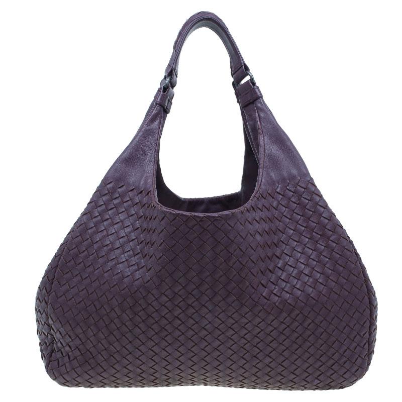 231513486e1b ... Bottega Veneta Purple Intrecciato Nappa Leather Large Campana Hobo.  nextprev. prevnext