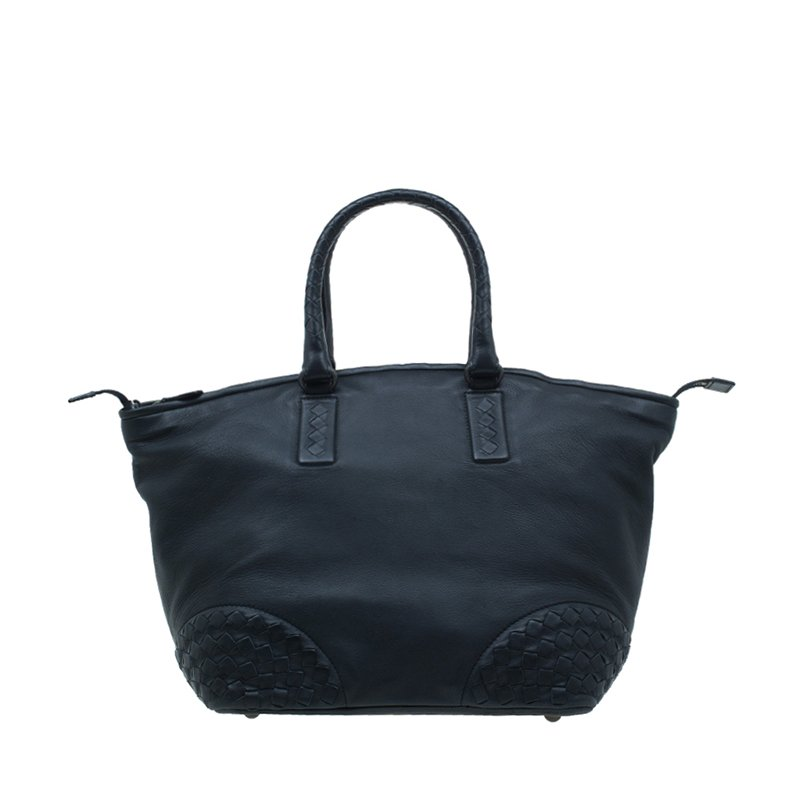 ... Bottega Veneta Black Nappa Intrecciato Leather Small Tote Bag.  nextprev. prevnext 76a60154a1799