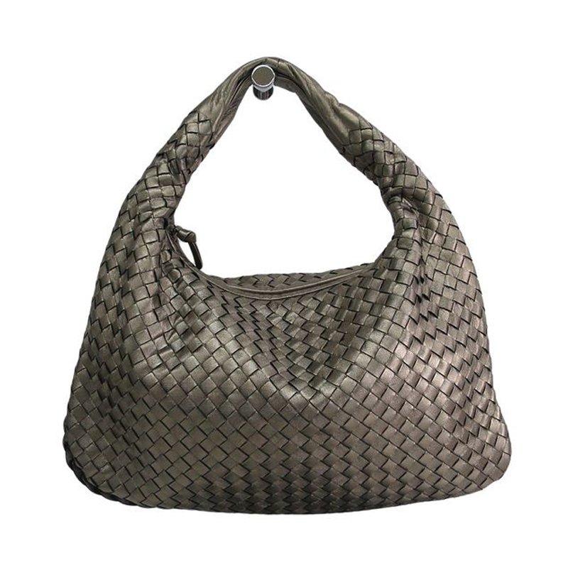 394b3590d ... Bottega Veneta Grey Intrecciato Woven Nappa Leather Large Veneta Hobo.  nextprev. prevnext