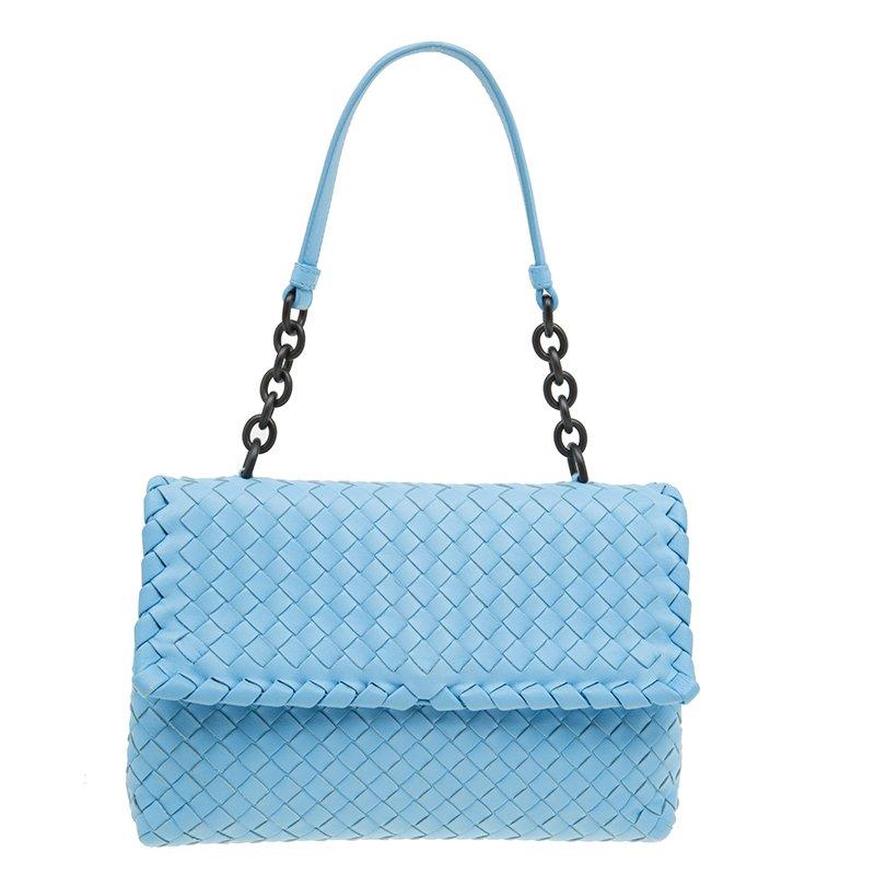 b6bd3d6a54 ... Bottega Veneta Baby Blue Intrecciato Leather Small Olimpia Top Handle  Bag. nextprev. prevnext
