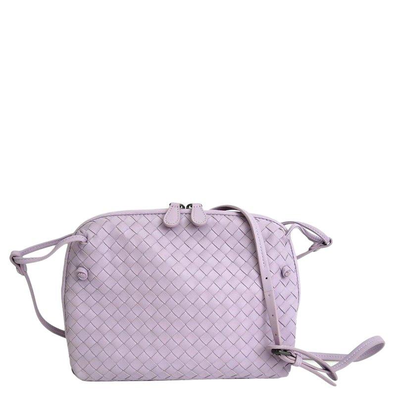Bottega Veneta Light Purple Intrecciato Nappa Leather Messenger Bag. ... 25799363d24d0