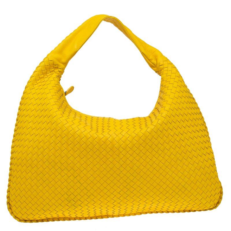 8509043649 ... Bottega Veneta Yellow Intrecciato Leather Maxi Veneta Hobo Bag.  nextprev. prevnext