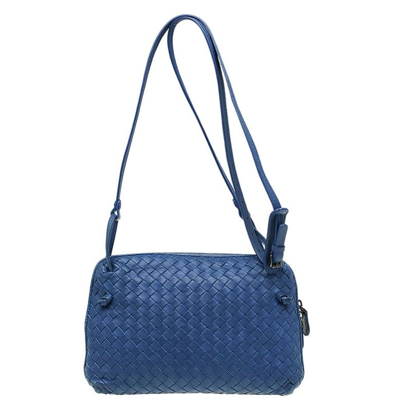 e69037c6d2 ... Bottega Veneta Blue Intrecciato Nappa Leather Crossbody Bag. nextprev.  prevnext