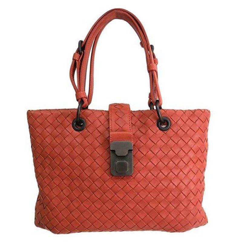 b8c21da8f5 ... Bottega Veneta Orange Intrecciato Leather Shoulder Bag. nextprev.  prevnext