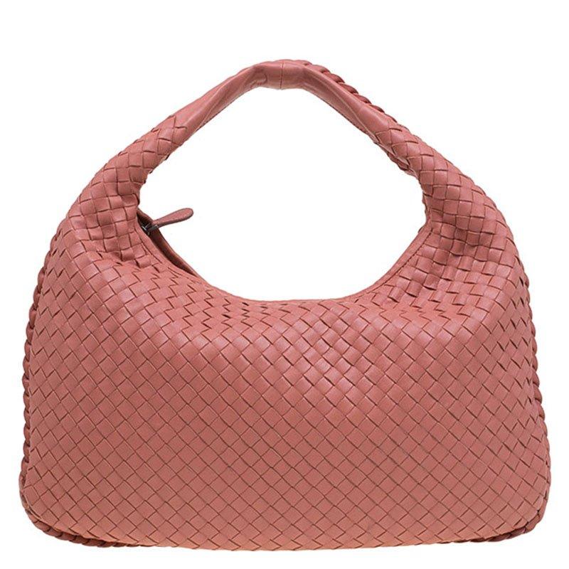 9f4f71d66006 Buy Bottega Veneta Peach Leather Small Intrecciato Hobo 79425 at ...
