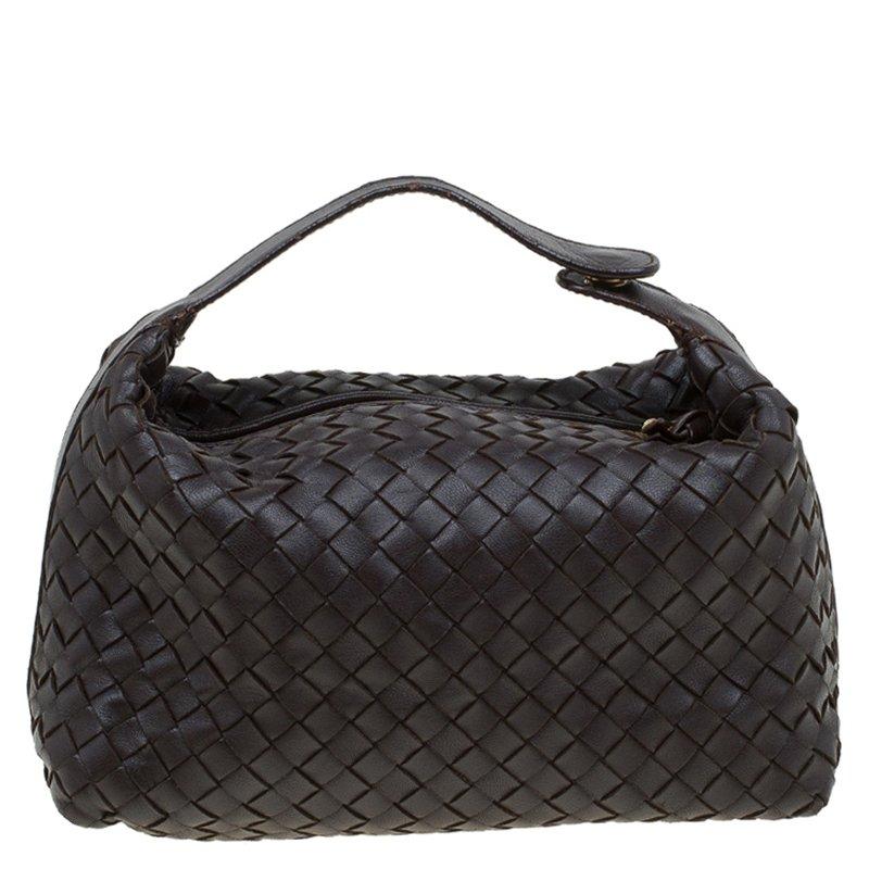 ef900c5c13 ... Bottega Veneta Dark Brown Intrecciato Woven Nappa Leather Make Up Bag.  nextprev. prevnext