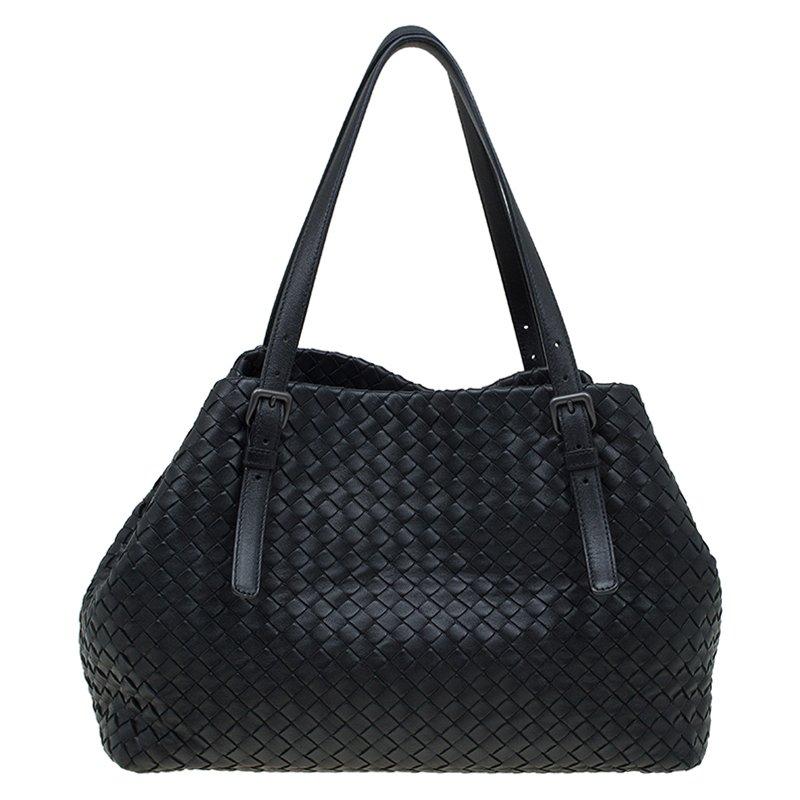 d7b4780a2b2e Buy Bottega Veneta Black Intrecciato Nappa Leather Tote 88721 at ...