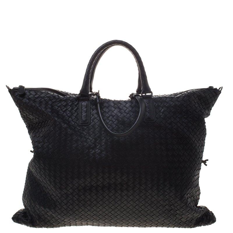 ... Bottega Veneta Black Intrecciato Nappa Leather Convertible Tote.  nextprev. prevnext f303731250d1f