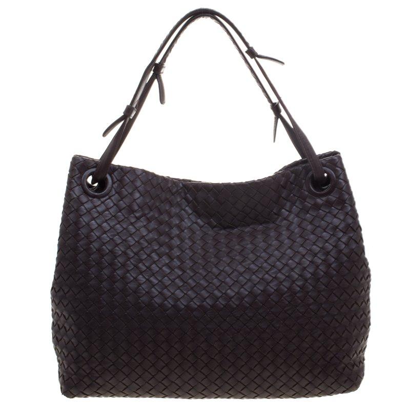 c23ead4130 ... Bottega Veneta Dark Brown Intrecciato Nappa Leather Medium Shoulder Bag.  nextprev. prevnext
