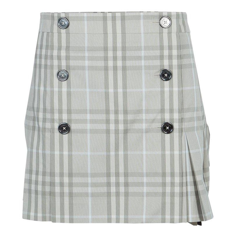 b5e519c7f8 ... Burberry Novacheck Wraparound Pleated Mini Skirt M. nextprev. prevnext