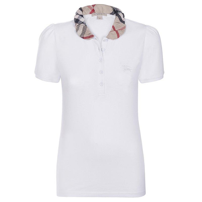 9a9f76d0e ... Burberry Brit White Novacheck Collar Polo Shirt L. nextprev. prevnext