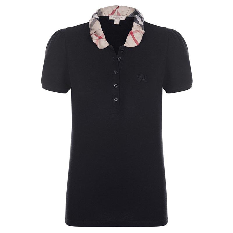 fcb0577b5 ... Burberry Brit Black Novacheck Collar Polo Shirt S. nextprev. prevnext