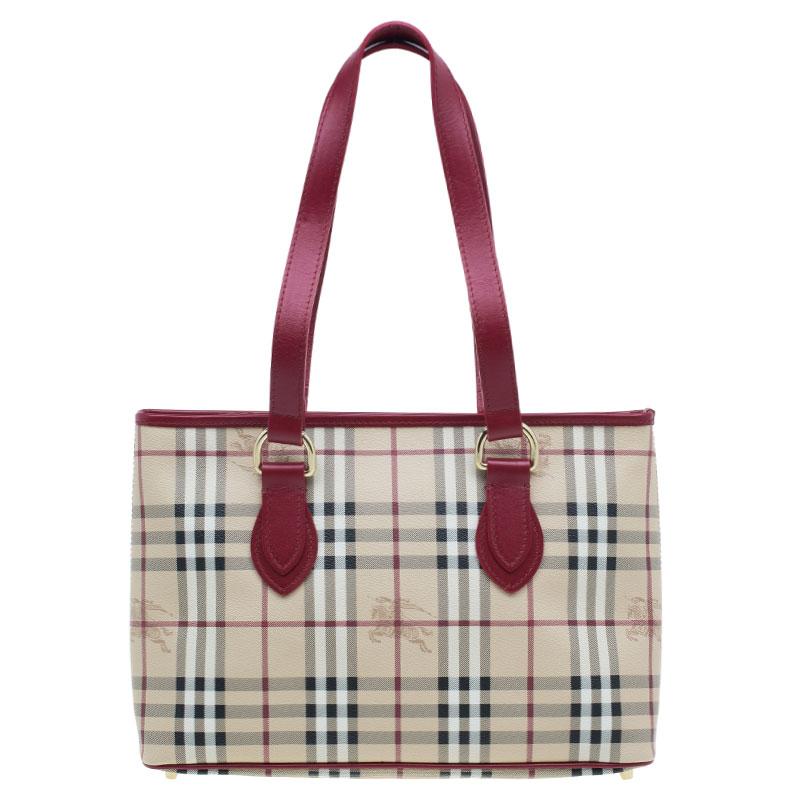 13b7202a272a ... Burberry Red Haymarket Check Medium Regent Tote Bag. nextprev. prevnext