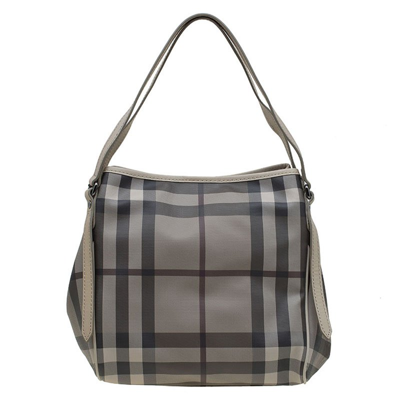 76dbe92dfb16 ... Burberry Grey Smoked Check Coated Canvas Small Canterbury Tote.  nextprev. prevnext