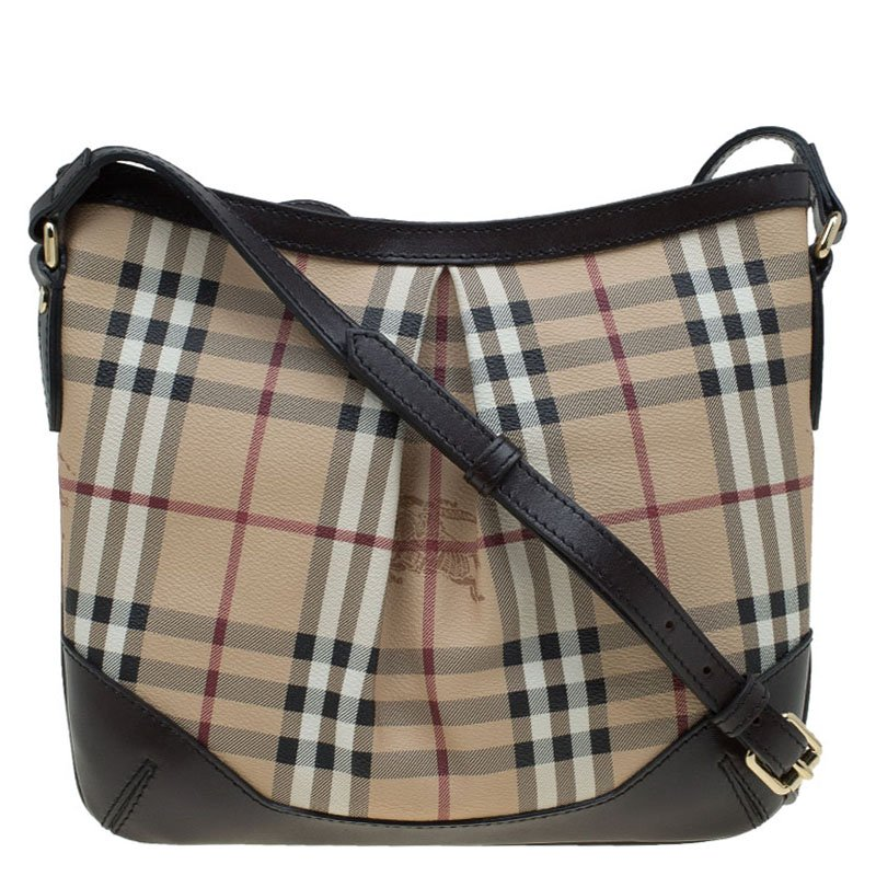 32cd4774b1e9 ... Burberry Beige Brown Haymarket Check Canvas Hartham Crossbody Bag.  nextprev. prevnext