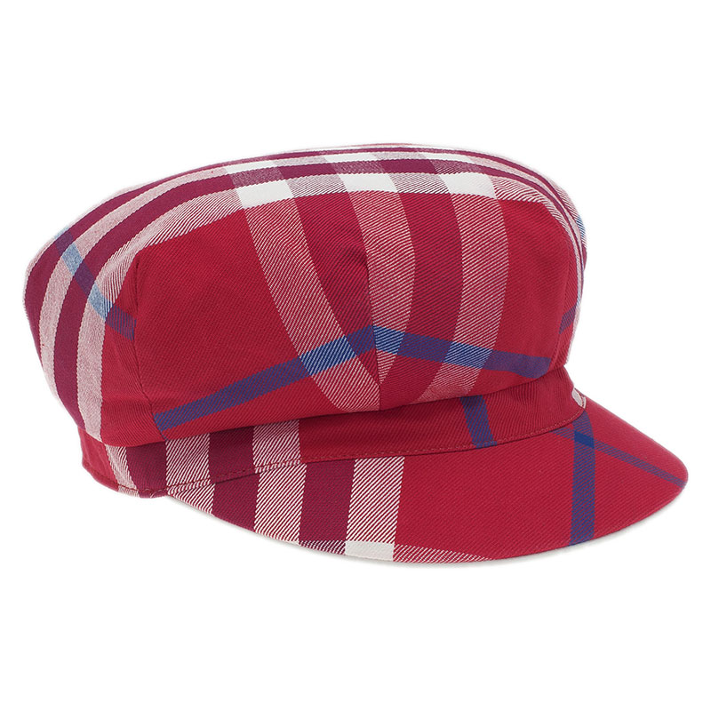 d0bde1892e126 ... Burberry Red Cotton Novacheck Newsboy Cap Size L. nextprev. prevnext