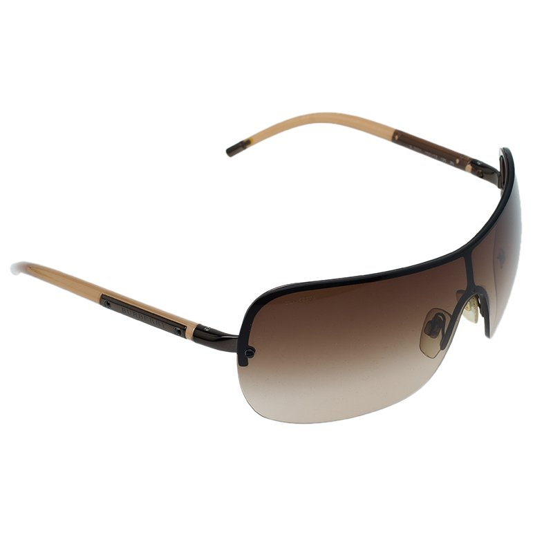 8e25b6287 Buy Burberry Brown Shield Sunglasses 87106 at best price | TLC