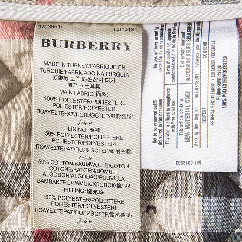 New York laaja valikoima halpa hinta Burberry Brit Beige Diamond Quilted Button Front Jacket S