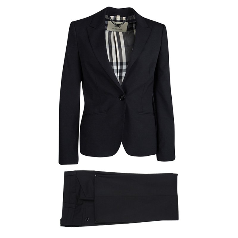 8bc3bb9e470d Buy Burberry London Black Wool Pant Suit S 148986 at best price