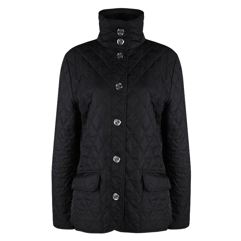 cc03082cfcb93 Burberry Black Diamond Quilted Jacket M