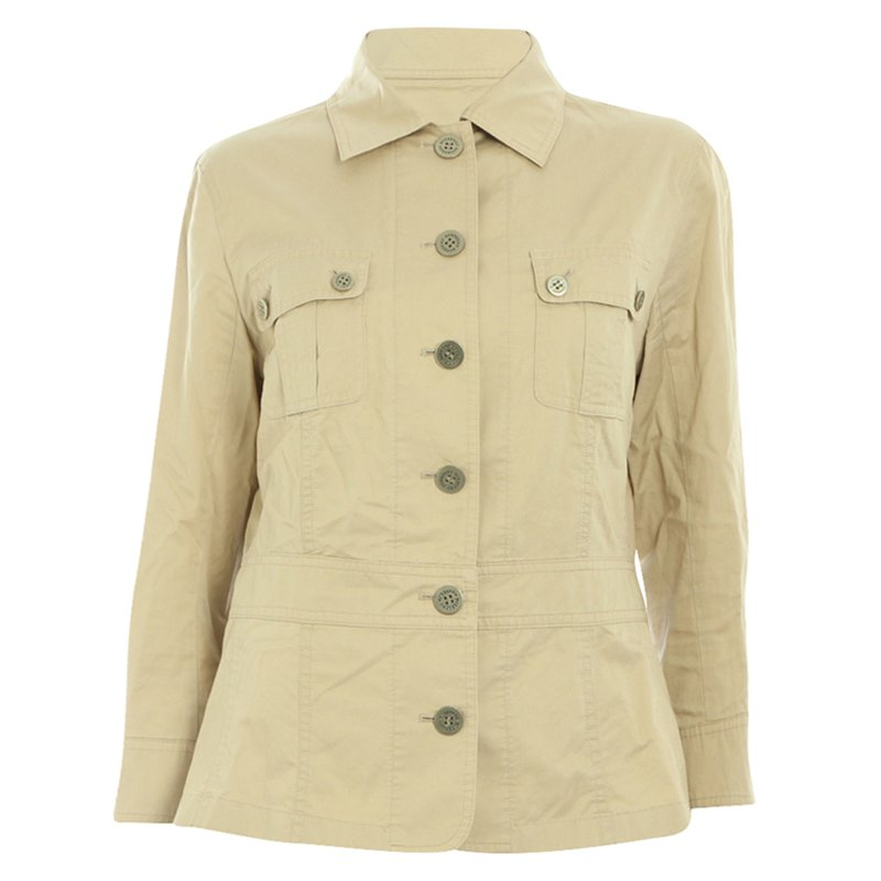 Buy Burberry London Beige Cotton Jacket S 85083 at best price  316c55a5f6