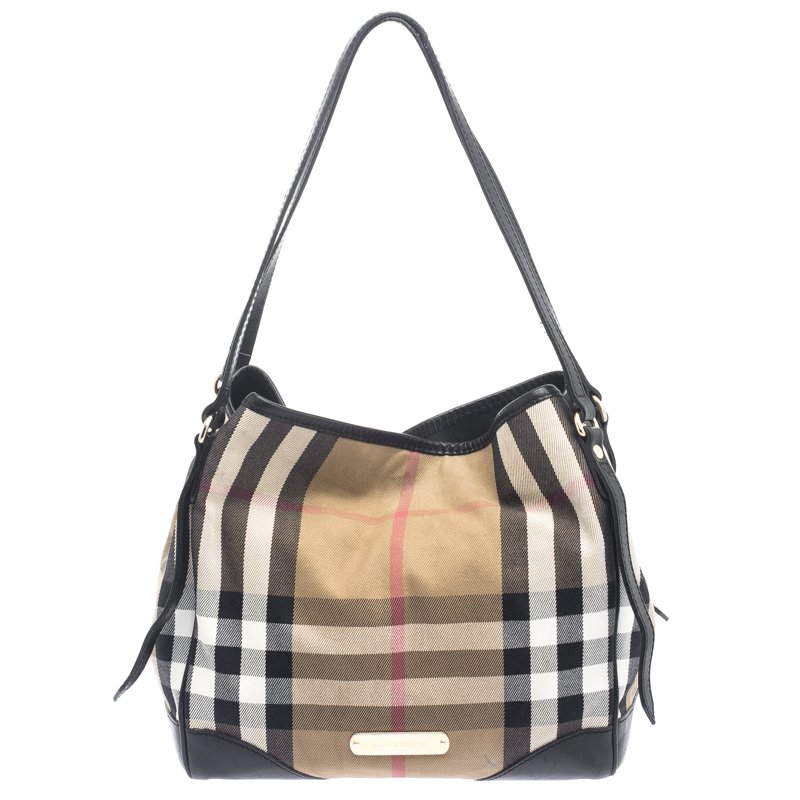 4b0ad6e96dcf ... Burberry Black House Check Fabric and Leather Canterbury Tote.  nextprev. prevnext
